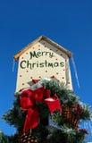 Den glada julen undertecknar Arkivfoton