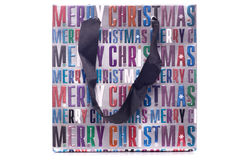 Den glada julgåvan hänger lös utklipp Royaltyfri Foto