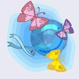 Den glade bilden för att dekorera barn` s festar stock illustrationer