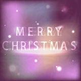 Den glade julen för inskrift i neonstil Royaltyfria Bilder