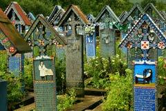 Den glade kyrkogården av Sapanta Royaltyfria Bilder