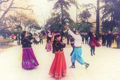 Den glade xinjiang dansen Royaltyfria Foton