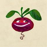 Den gladlynta och lyckliga grönsaken rotar beta stock illustrationer