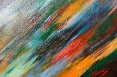 Den glansiga torkduken täckas med vattenfärgsudd Arkivbild