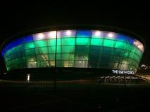 Den Glasgow SSE hydroen på natten Arkivfoto