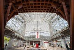 Den Glass kupolen av den Kanazawa JRstationen Royaltyfria Foton