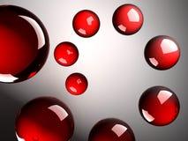 den glass spiralen gjorde röda skinande spheres vektor illustrationer