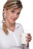 den glass sunda livsstilen mjölkar kvinnan Arkivbilder