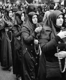 Den globala sörjande ceremonin av Ashura Karbala spelar martyr Commemor Fotografering för Bildbyråer