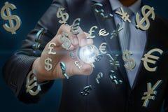 Den globala valutamarknaden Royaltyfria Foton