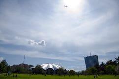 Den Globus cirkusen parkerar Arkivbilder