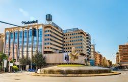 Den Glorieta de laen Estrella, en fyrkant i Alicante Royaltyfri Foto