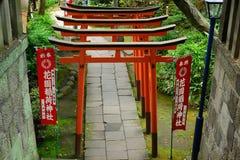 Den Gojo Tenjin Shintorelikskrin i Ueno parkerar, Tokyo, Japan arkivfoto