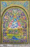 Den Golestan slotten belägger med tegel berättelser Arkivbild
