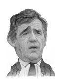 Den Gordon Brown karikatyren skissar Fotografering för Bildbyråer
