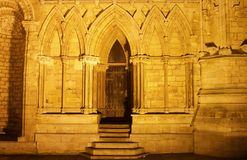 Den gotiska dörren Royaltyfri Foto