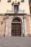 Den gotiska fjärdedelen. Barcelona Spanien. Arkivfoton