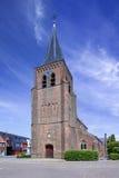 Den gotiska helgon-Servatiuskyrkan trasslar ihop in, Belgien Arkivfoto