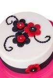 Den gotiska kakan från socker klistrar röda blommor Arkivfoton