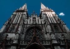 Den gotiska kyrkan Royaltyfri Bild