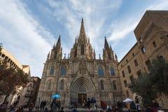 Den gotiska kyrkan, Barcelona Arkivfoton