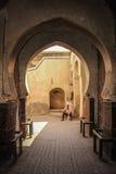 den gottic barcelona för 2008 område barrien kan den platsspain gatan ingång marrakesh morocco Arkivfoto