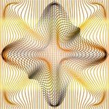 Den grå vektorillustrationen av lutningen som är guld- och, förvrider, och deformering netto eller ingreppet snedvrider textur royaltyfri illustrationer