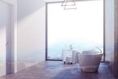 Den gråa badruminre, badar tonat Arkivfoto