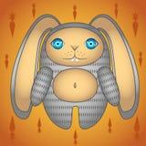 Den gråa kaninen Arkivbilder