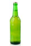den gröna ölflaskan vätte Arkivfoton