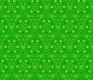 Den gröna abstrakt begrepp krullar seamless mönstrar Royaltyfria Foton