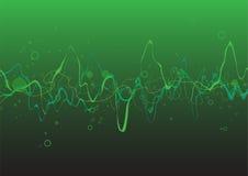 Den gröna abstrakt begrepp lines bakgrund vektor illustrationer