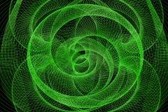 Den gröna abstrakta tunnelen från ett raster Arkivbilder