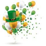 Den gröna apelsinen sväller hatten för treklöverer för irländareSt Patricks stock illustrationer