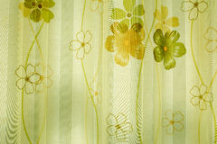 Den gröna blom- chintztapeten Arkivfoto
