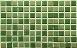 Den gröna fyrkanten tiles modellen Arkivfoto