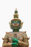 """Den gröna jätte- statyn (som kallas """"Ravana"""") på Wat Phra Si Ratt royaltyfri foto"""