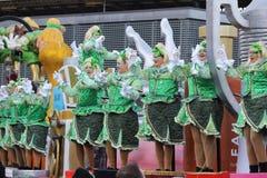 Den gröna karnevalet kostymerar Belgien Royaltyfri Fotografi