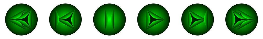 Den gröna knappen som kontrollerar spelaren Fotografering för Bildbyråer