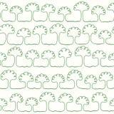 Den gröna linjen i form av ett abstrakt träd royaltyfri illustrationer