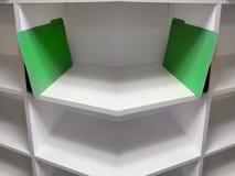 Den gröna mappen sparar i regeringsställning Royaltyfria Bilder