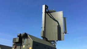 Den gröna militära radar roterar lager videofilmer