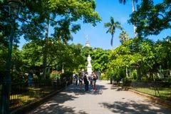 Den gröna plazaen royaltyfria foton