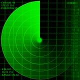 Den gröna radar avskärmer vektor illustrationer