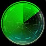 Den gröna radar avskärmer Fotografering för Bildbyråer