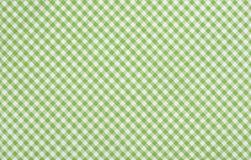 Grönt rutigt tyg Fotografering för Bildbyråer