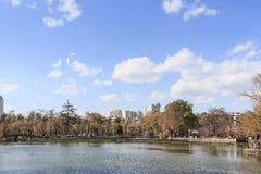 Den gröna sjön parkerar i Kunming, Yunnan, det populäraste stället för fritid i staden Royaltyfria Foton