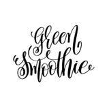 Den gröna smoothien - räcka bokstäverinskriften till sunt liv Royaltyfria Bilder
