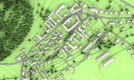 Den gröna staden modellerar Royaltyfri Foto