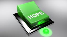Den gröna strömbrytaren för HOPP är på - tolkningen 3D royaltyfri illustrationer